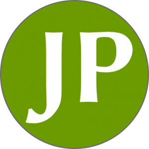 Jotoub logo (green circle with white JP letters in it)